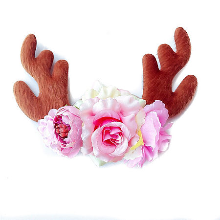 Flowers Antlers Style Hairband