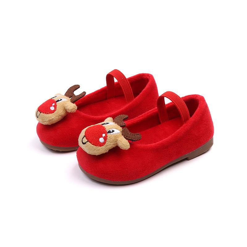 Christmas Moose Slip-Ons