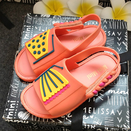 Butterfly Pattern Girls Jelly Sandals
