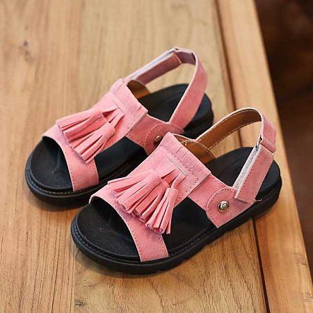 Girls Tassels Princess Sandals