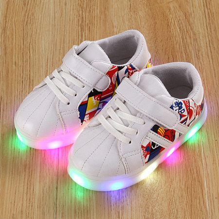 LED Graffiti Lace Up Sport Shoes