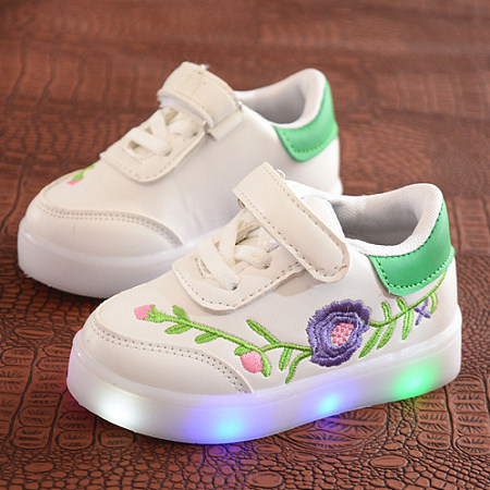 LED Flower Embroidered Shoes