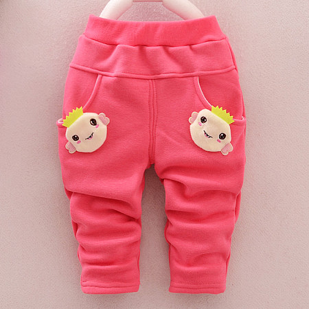 Buy Thickened Cartoon Animal Pattern Elastic Waist Pants, pink, BL17111109 for $11.99 in Popreal store