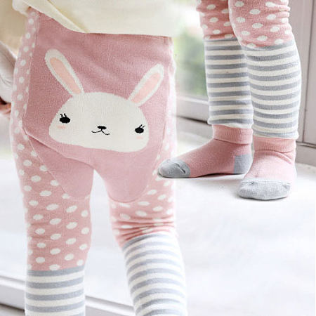 Cartoon Animals Pattern Polka Dots Pants With Socks