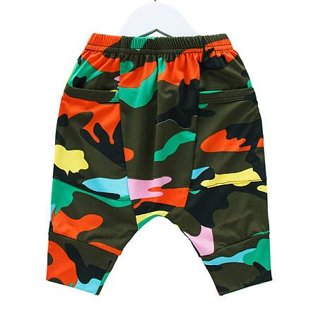 Camouflage Prints Elastic Waist Harem Pants