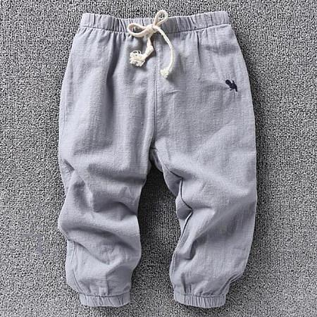 Solid Color Drawstring Elastic Waist Pants