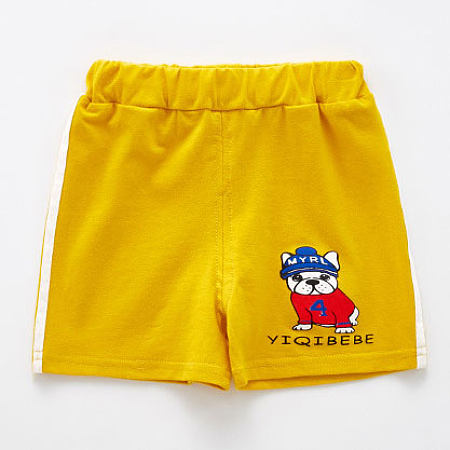 Cartoon Bulldog Letters Pattern Shorts