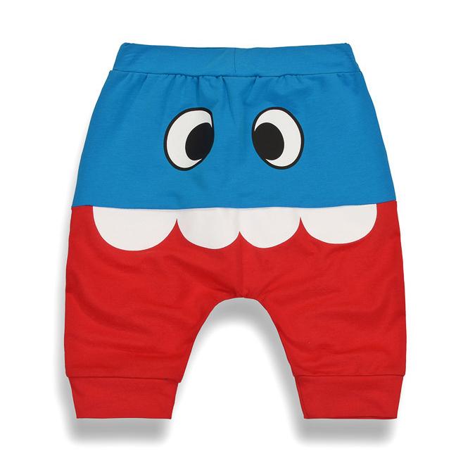 Cartoon Pattern Color Block Pants