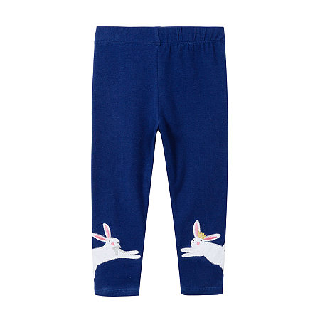 Buy Cartoon Bunny Pattern Elastic Waist Pants, dark_blue, BL18072007 for $9.84 in Popreal store