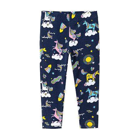 Cartoon Unicorn Prints Pants