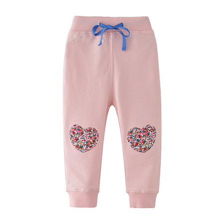 Buy Flower Prints Heart Pattern Drawstring Pants, pink, BL18072413 for $11.55 in Popreal store