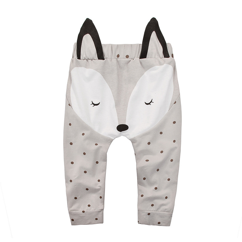 Boys Girls Lovely Little Fox Polka Dot Bottom