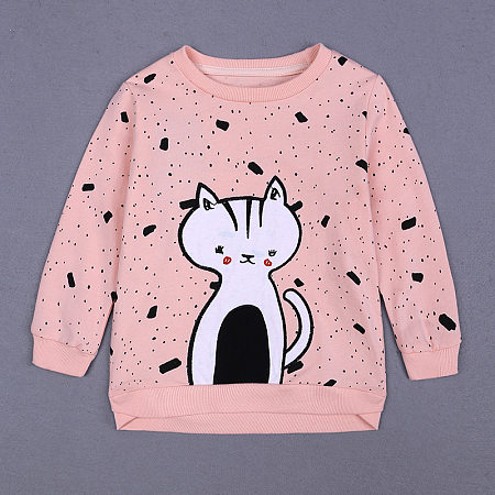 Buy Dot Prints Kitty Pattern T-Shirt, pink, BY18091010 for $14.02 in Popreal store