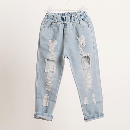 Boys Girls Fashion Ripped Jeans