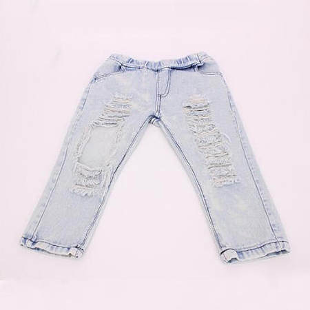 Boys Girls Ripped Jeans