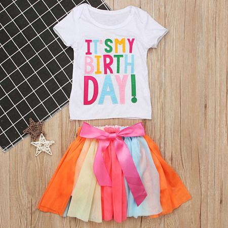 Fashion Short Sleeve Colorful Skirt Suit, 8193802