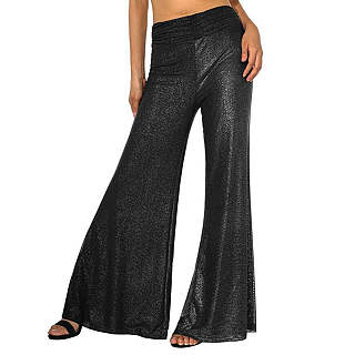 Sparkling High-Rise Wide-Leg Pants