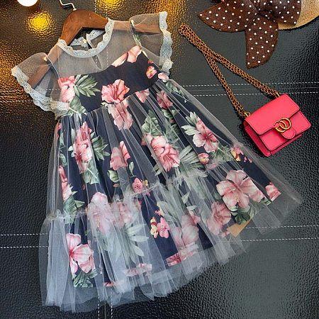 Risultati immagini per Floral Prints Fly Sleeve Dress