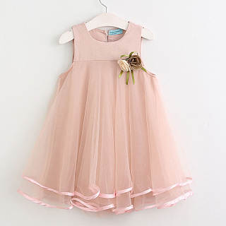 Decorated Corsage Tulle Princess Dress