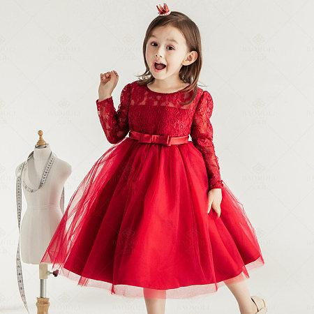 Bowknot Lace Mesh Princess Dress