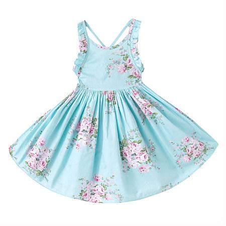 Floral Prints Girls Daily Dress