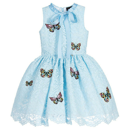 Butterfly Bowknot Girls Dress
