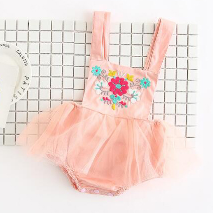 Girls Summer Embroidered Tutu Dress