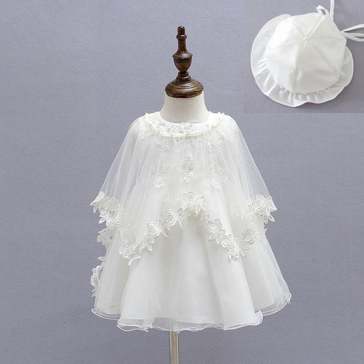 Lace Flower Pattern Bowknot Self Tie Princess Dress Set