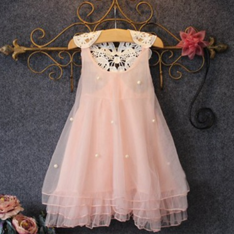 Beads Decorated Lace Patchwork Dress