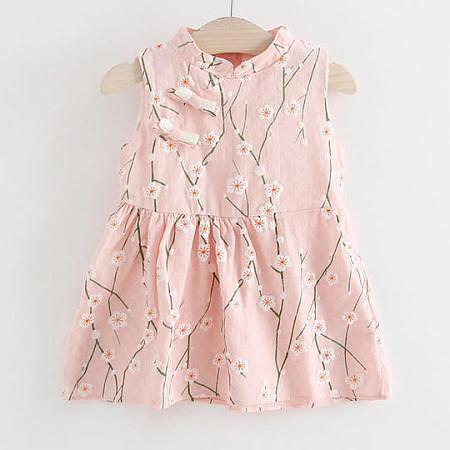 Girls Summer Floral Print Dress