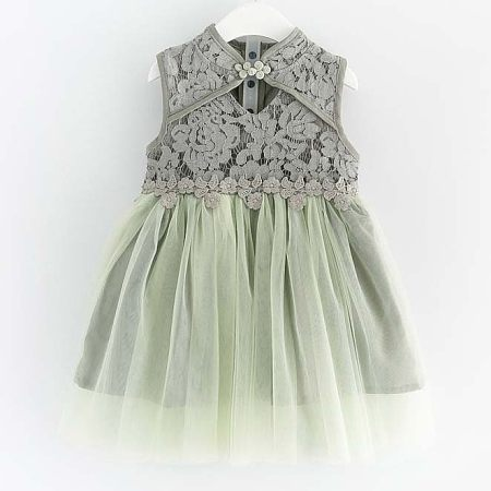 Girls Lace Tulle Summer Dress