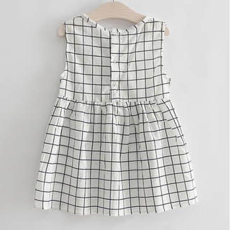 Plaids Pattern Girls Summer Dress
