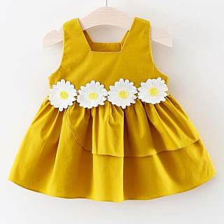 Girls Sunflower Decorated Dress