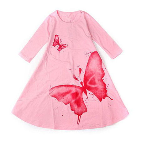 Girls Butterfly Pattern Dress