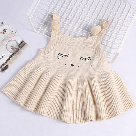 Fox Pattern Knitted Cami Dress