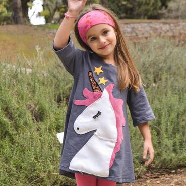 Unicorn Patch A-Line Skirt