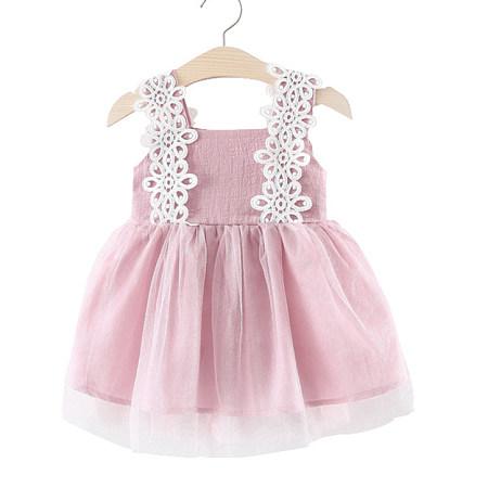 Applique Tulle Zipper Back Cami Dress