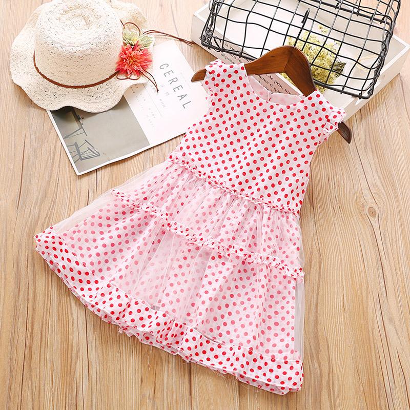 Polka Dot Tulle Flare Dress