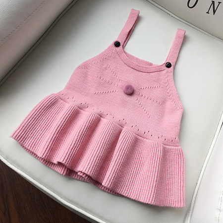 Solid Color Ruffle Hem Cami Dress