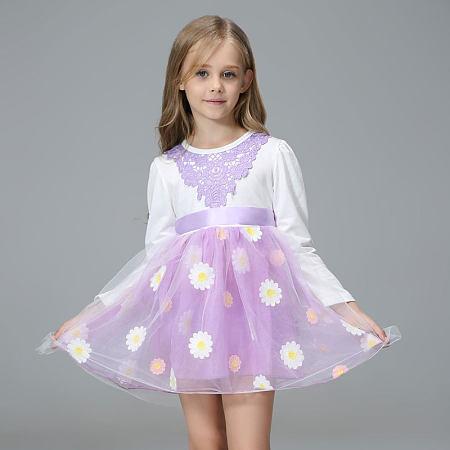 Daisy Applique Lace Tulle Dress