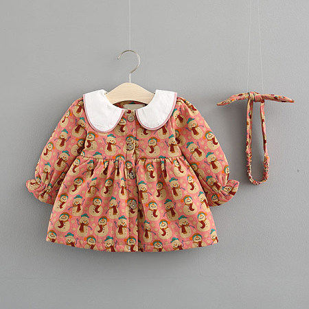 Snowman Print Button Front Dress