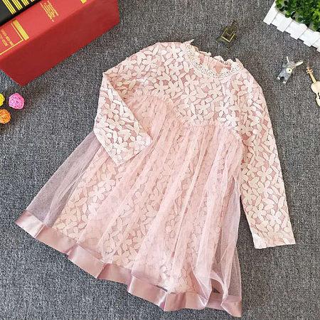 Flower Applique Tulle Lace Dress