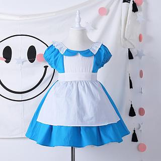 Square Neck Bowknot Back Alice Dress