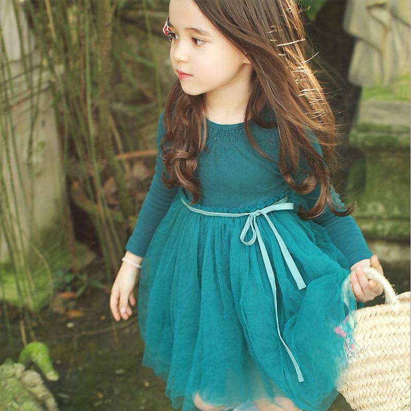 Solid Color Tulle Keyhole Back Dress