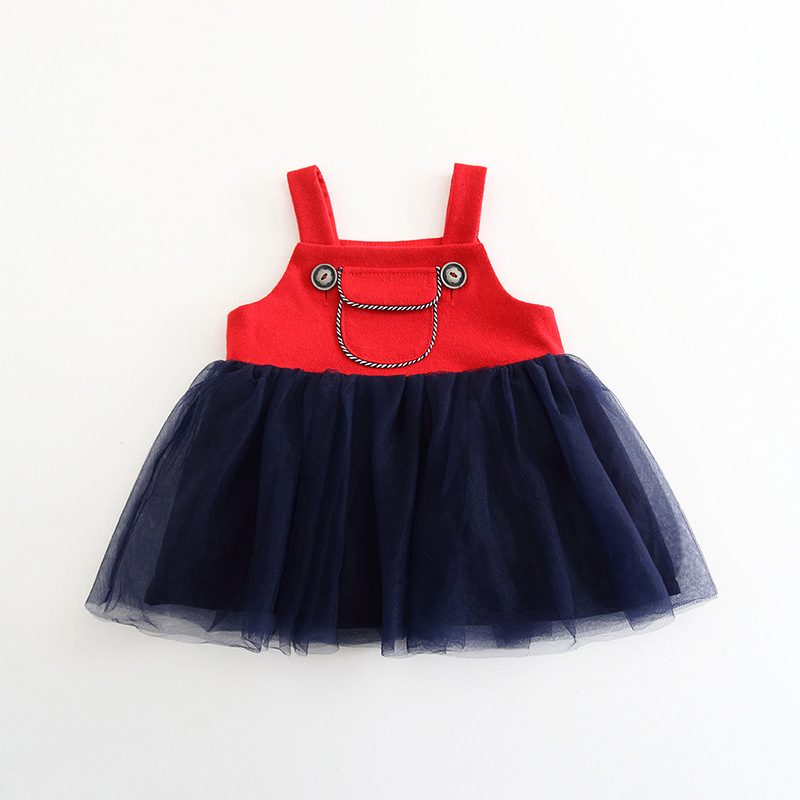 Pocket Tulle Button Dress