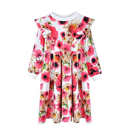 Allover Flower Print  Round Neck Dress