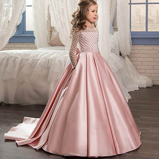 Bowknot Back  Floor Length Princess Dress