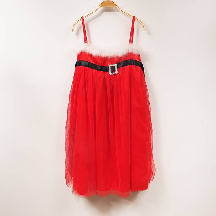Chrsitmas Tulle Red Cami Dress