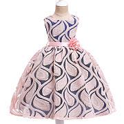 flower-decorated-sleeveless-princess-dress