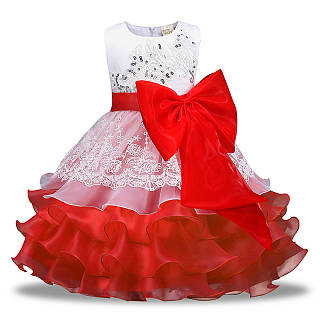 a710e891a Bowknot Embellished Floral Tiered Tulle Princess Dress - popreal.com